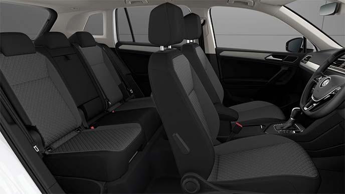 TSI Comfortline・TDI 4MOTION Comfortlineのチタンブラック/ファブリックシート