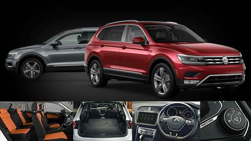 VW新型ティグアンの内装は先進装備を有し黒系のインテリアデザインを採用