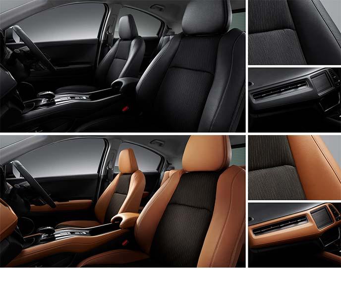 ホンダ・ヴェゼル HYBRID Z Honda SENSINGに標準装備のコンビシート2種