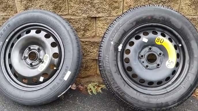 テンパータイヤと普通のタイヤの比較