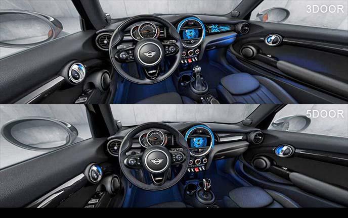 BMWミニ 3ドア/5ドアのコックピット