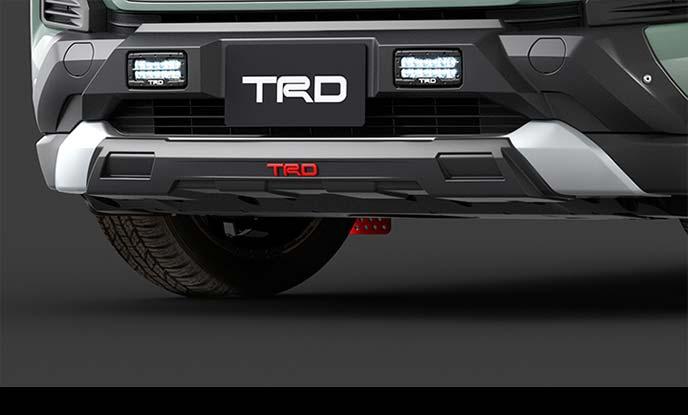 TRD Field Monster For Adventure フロントロアガーニッシュ
