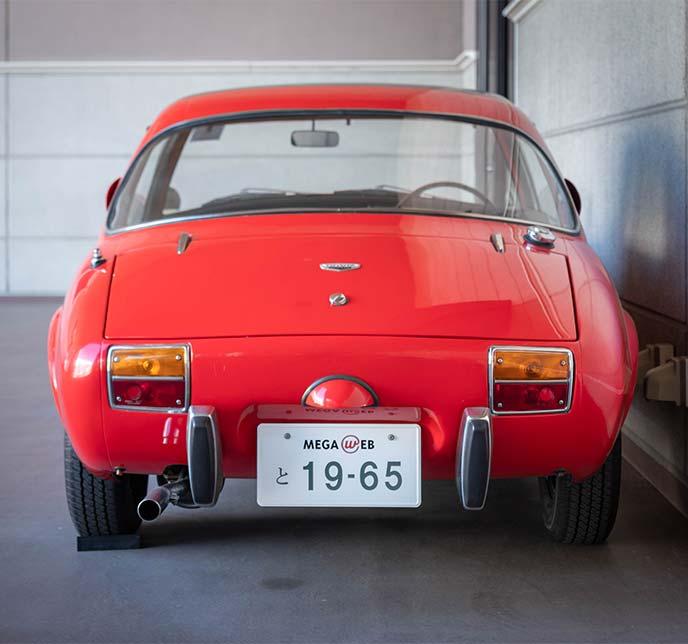 トヨタ スポーツ800(TOYOTA S800 UP15 1965年式)のリアビュー