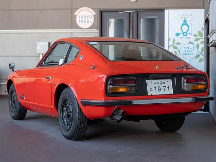 日産フェアレディZ 432 PS30型 1971年式のリアビュー