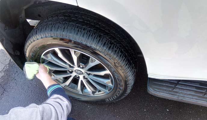 タイヤクリーナーでメンテナンスしたタイヤ