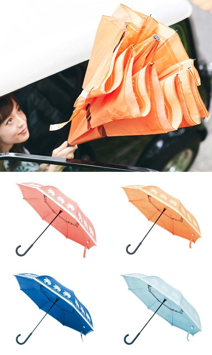 Circus 逆さに開く二重傘
