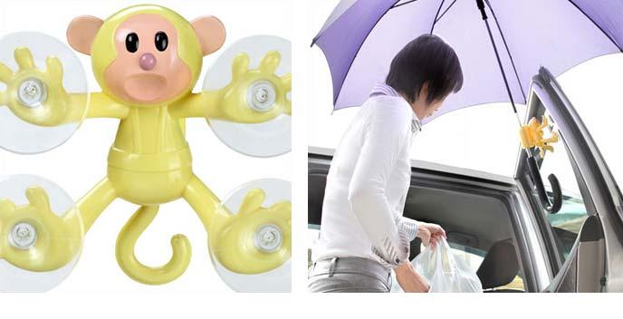 おさるさん傘ホルダー