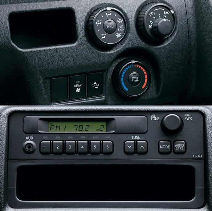 ボンゴブローニイバンのAMとFMラジオ