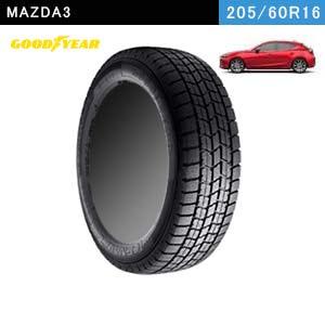 MAZDA3におすすめのGOODYEAR ICE NAVI 7 205/60R16 92Qのスタッドレスタイヤ