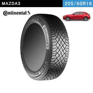 MAZDA3におすすめのContinental VikingContact 7 205/60R16 96T XLのスタッドレスタイヤ