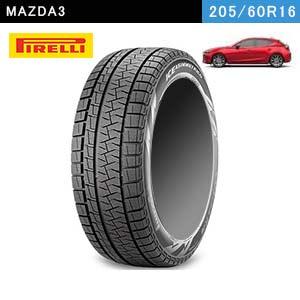 MAZDA3におすすめのPIRELLI ICE ASIMMETRICO PLUS 205/60R16 96Q XLのスタッドレスタイヤ
