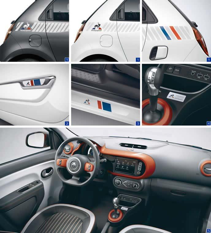 トゥインゴ限定車の内装