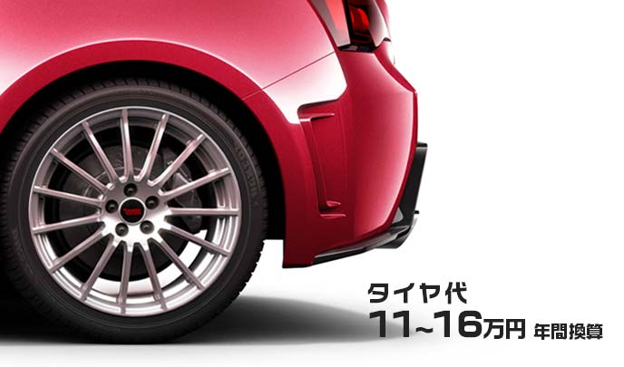 スバルBRZのリアホイール