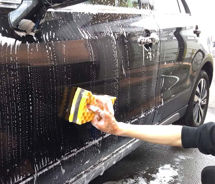 洗車している様子