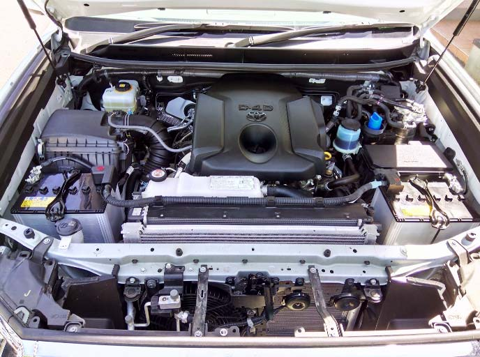 Land Cruiser Prado engine compartment