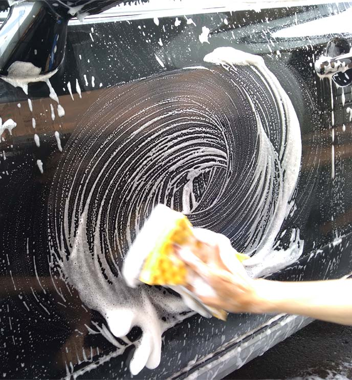 円を描きながら洗うのはNG