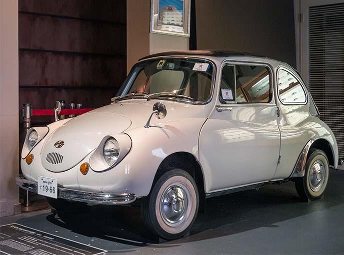 1966年式 スバル360 K111型の左サイドフロントビュー