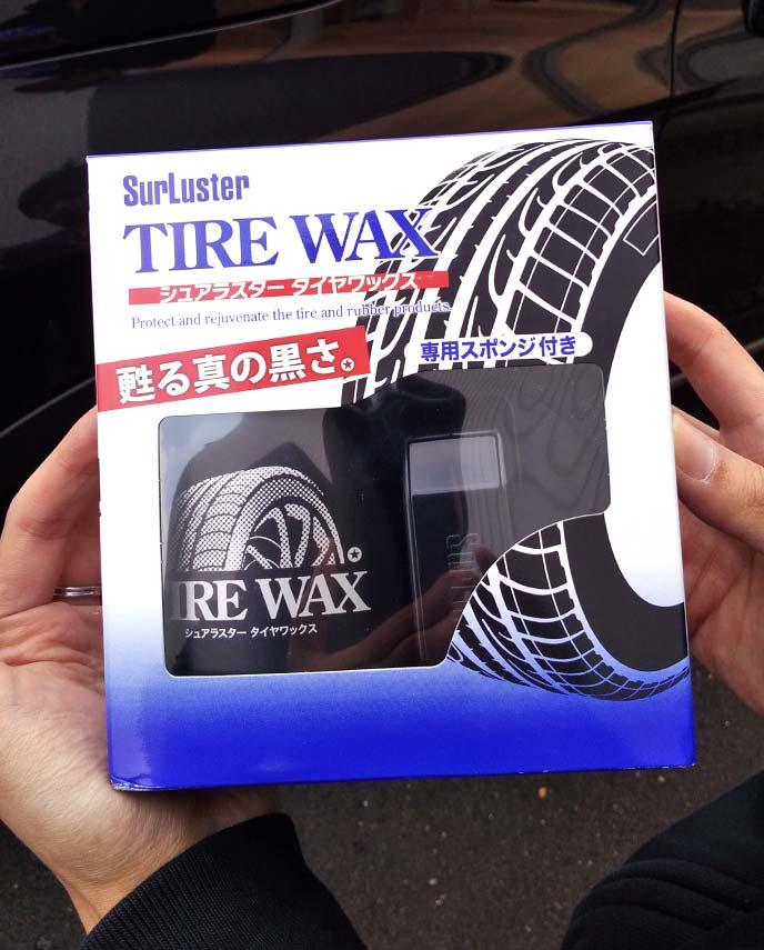 シュアラスタータイヤワックスのパッケージ