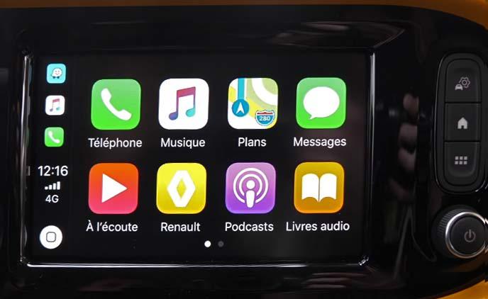 新型トゥインゴに搭載されたマルチメディアシステムの操作画面