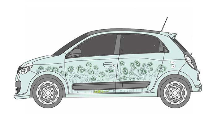 ルノー・トゥインゴのデザインイメージ