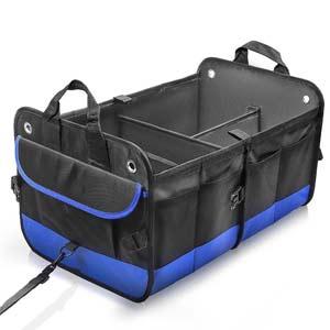 おすすめの車載ボックス大容量 折り畳み式取っ手付 車用収納ボックス
