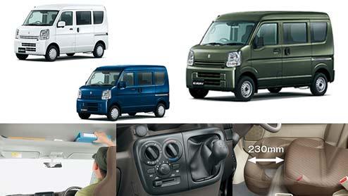 エブリイの内装は趣味車としても使える大きくて使いやすい荷室スペースが魅力