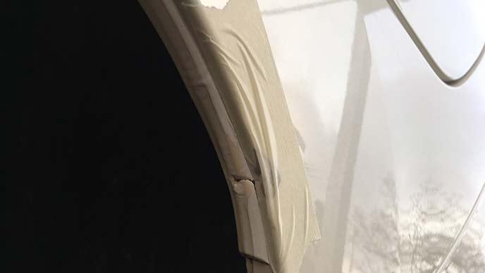 車を補修するためのマスキングテープ