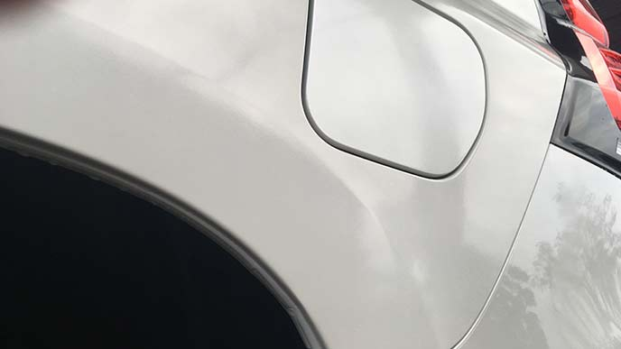 ゆず肌を改善した車のボディ