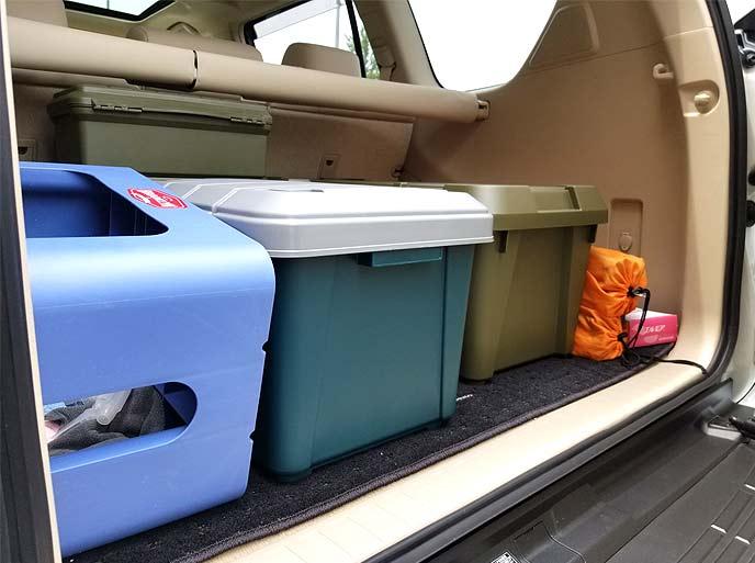 ティアモス400・600・800といった収納ボックスシリーズ