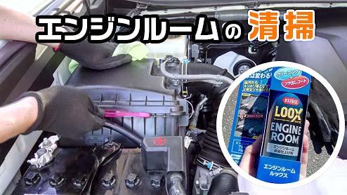 エンジンルームの清掃で見えない所にもこだわりを!専用クリーナーですっきりツヤ出しもできる