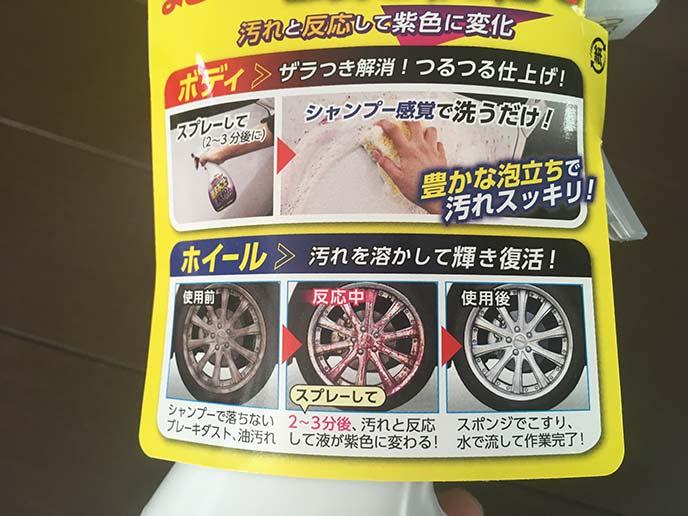 オカモト産業ボディークリーナー車まるごと鉄粉クリーナーの使い方