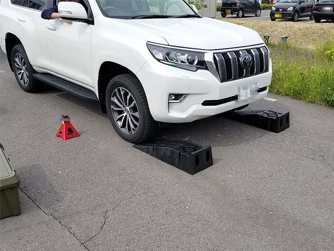 分割式ワイドカースロープを使用