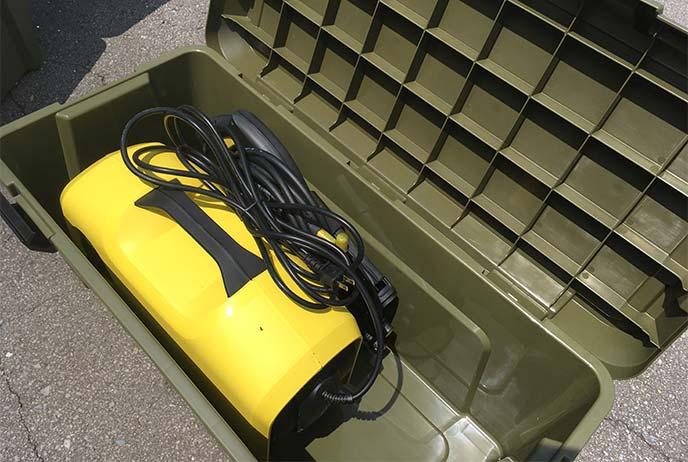 ケルヒャー「K2 サイレント」本体を収納したティアモス800