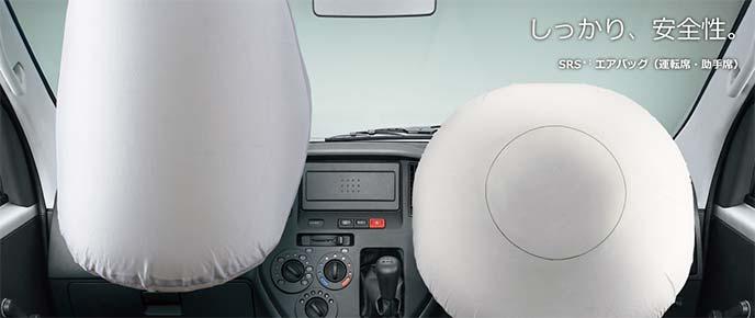 トヨタ・タウンエースバンとトヨタ・ライトエースバンのエアバッグ作動イメージ