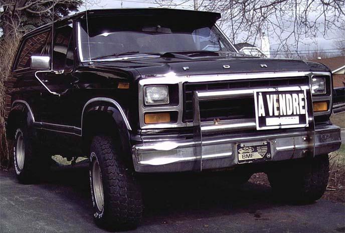 フォード・ブロンコ第三世代(1980~1986年)
