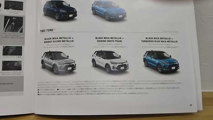 トヨタが販売するSUVライズのエクステリア