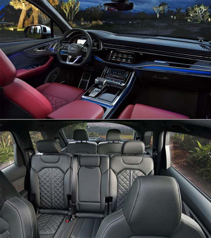 AudiSQ7のドアトリムやインテリアシート