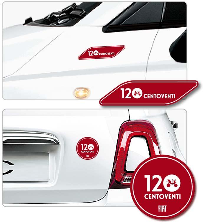 フィアット500の特別仕様車「500 Super Pop Centoventi」専用ステッカー