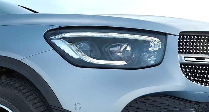 新型GLCのヘッドライト