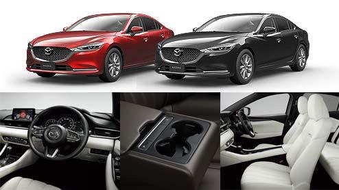 MAZDA6の内装はセダンとワゴンで共通!ターボモデルは黒×赤の専用デザインを採用