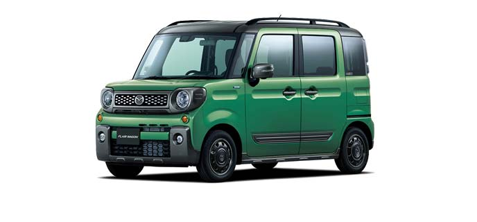 フレアワゴン ツールグリーンパールメタリック2トーンカラー(ガンメタリックルーフ)