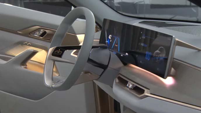 BMWコンセプトi4のコックピット