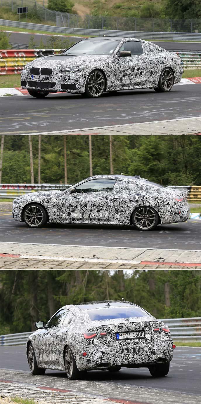 BMWの新型4シリーズクーペのプロトタイプ