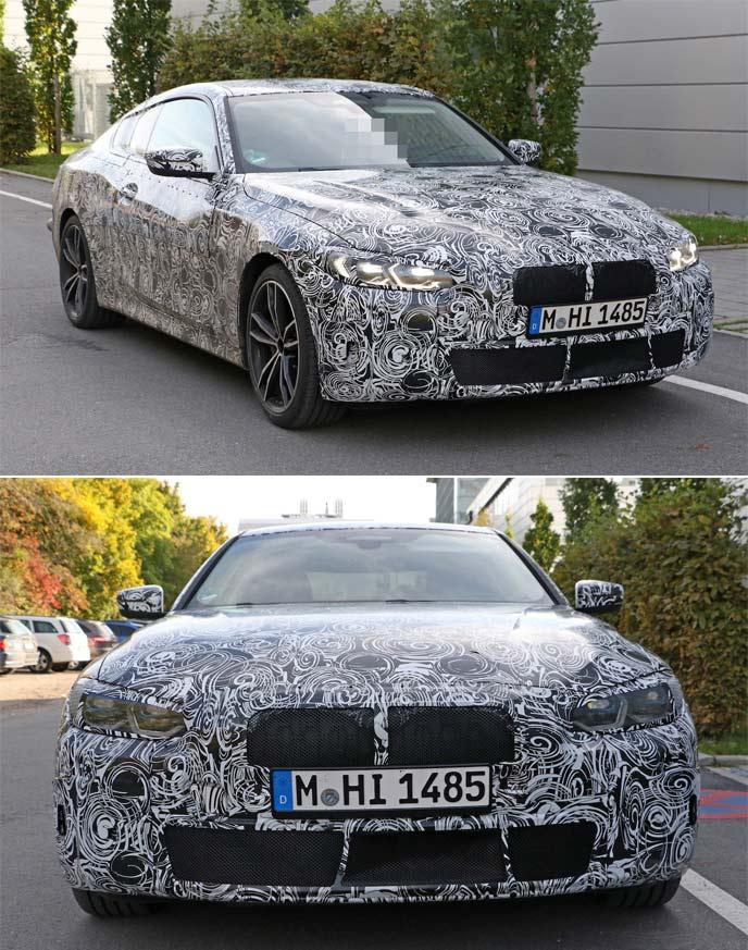 新型BMW4シリーズの開発車両