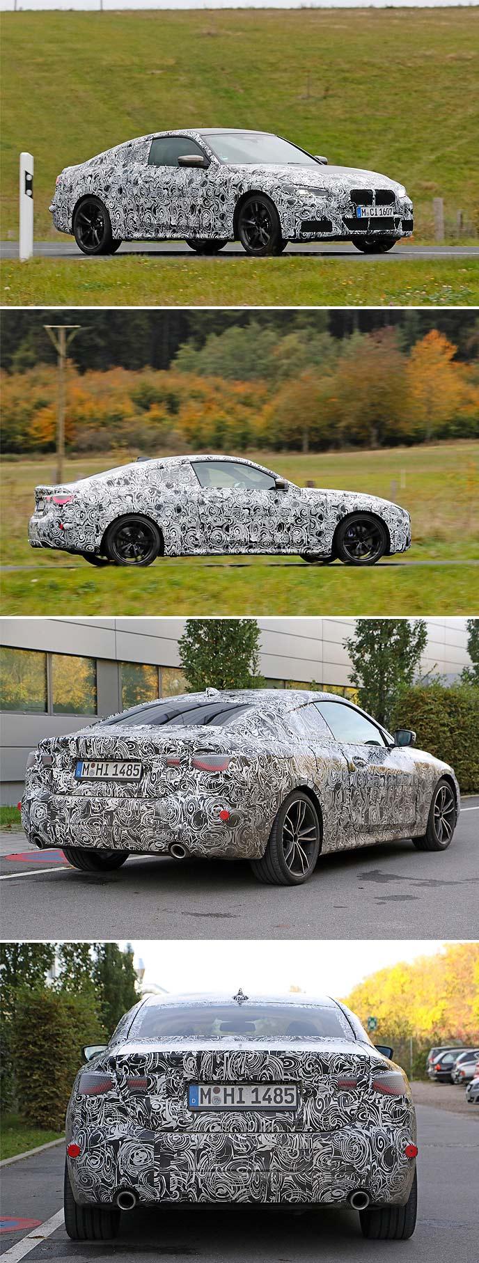 新型BMW4シリーズのプロトタイプ