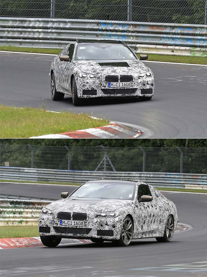 BMWの新型4シリーズクーペの開発車両