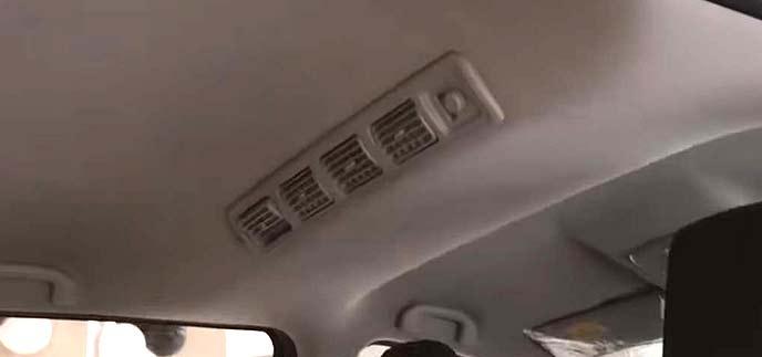 リヤシート用のエアコン