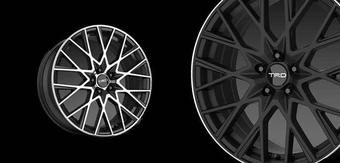 18インチアルミホイール「TRDTF9」&タイヤセット