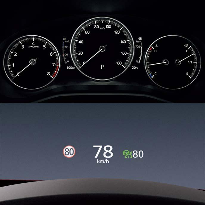 先進感満載の7インチマルチスピードメーターとアクティブ・ドライビング・ディスプレイ