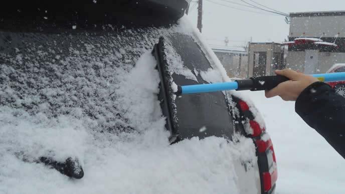 横から除雪する男性